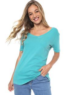Camiseta Sacada Lisa Azul