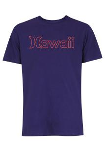 Camiseta Hurley Silk Hawaii Outline - Masculina - Roxo