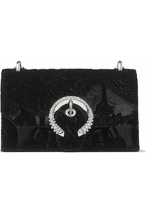 Jimmy Choo Clutch Paris De Veludo - Preto
