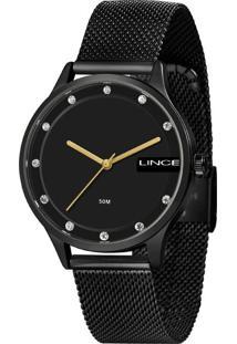 Kit Relógio Feminino Lince Lrn4623L-Ki32P1Px Analógico 5Atm + Brinde