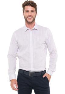 Camisa Forum Reta Listrada Roxa