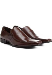 Sapato Social Couro Shoestock Pala Lisa - Masculino-Café