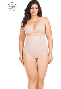 Cinta Modeladora Com Ziper E Alca Plus Size Mondress Bege - Kanui