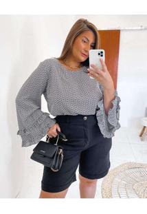 Blusa Almaria Plus Size Miss Taylor Estampada Ml B