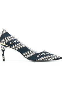 Givenchy Sapato M-Pump Jacquard Com Logo - Azul