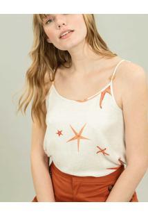 Blusa Com Alças Estampa Starfish - Lez A Lez