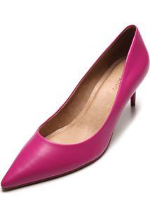 Scarpin Couro Carrano Liso Pink