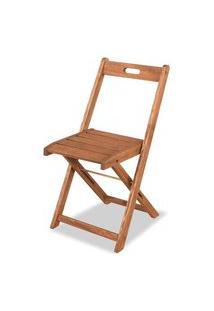 Cadeira Dobravel Economica Stain Cor Jatoba - 34557 Jatoba