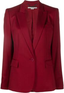 Stella Mccartney Blazer Slim Com Abotoamento Simples - Vermelho