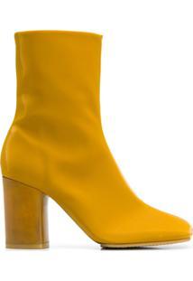 Acne Studios Ankle Boot Com Salto Bloco - Amarelo
