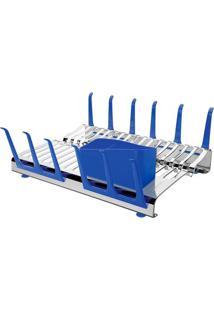 Escorredor De Louça Azul Plurale Tramontina - 61535/540