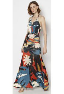40914022e6 ... Vestido Frente Única Com Elástico   Amarração- Azul   Lamorena Rosa