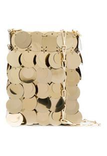 Paco Rabanne Bolsa Transversal Iconic 1968 Mini - Dourado