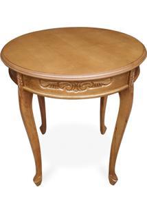 Mesa De Canto Provençal Pintura Mel Entalhada Madeira Maciça Design De Luxo