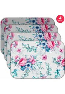 Jogo Americano Love Decor Wevans Floral Premium Kit Com 4 Pçs