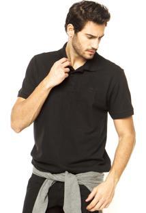 Camisa Polo Timberland Basic Logo Preta