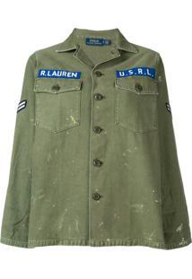 Polo Ralph Lauren Jaqueta Jeans Com Logo - Green