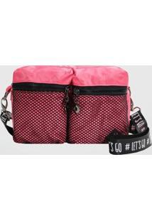Bolsa Tiracolo Back Bag Nylon Let'S Go Feminina - Feminino-Coral