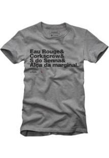 Camiseta Reserva Curvas Perigosas Masculina - Masculino-Cinza