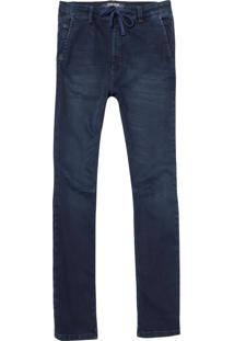 Calça John John Rock Miranda Moletom Jeans Azul Masculina (Jeans Escuro, 42)