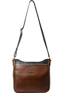 Bolsa De Couro Recuo Fashion Bag Sacola Telha/Preto