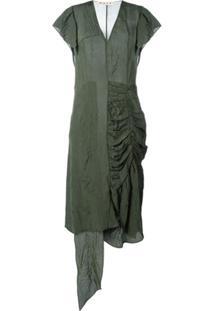 Marni Vestido Assimétrico - Verde