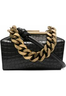 Stella Mccartney Medium Chunky Chain Clutch Bag - Preto
