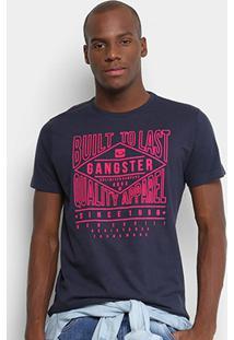 Camiseta Gangster Estampada Masculina - Masculino