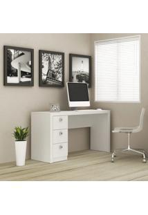 Mesa De Computador 03 Gavetas Me 4102 Reversível Branco