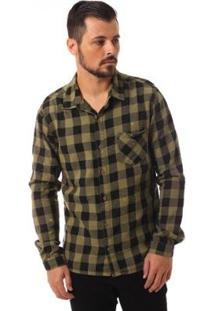 Camisa Denuncia Manga Longa Masculina - Masculino-Verde