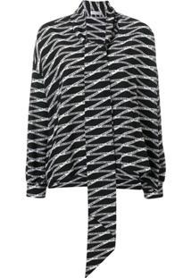 Balenciaga Blusa 'Fluid Vareuse' - Preto