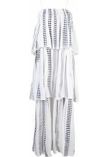 Lemlem Tigist Tier Dress - Branco