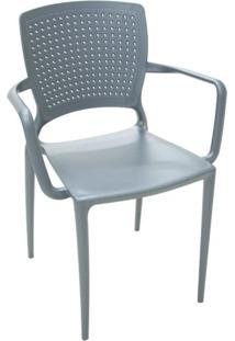 Cadeira Safira Com Braço Grafite