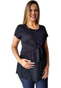 Blusa Calupa Gestante E Amamentação De Amarrar Feminina - Feminino