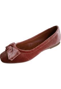 Sapatilha Scarpe Veludo Rosê