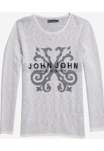 Blusa John John Joey Tricot Branco Masculina (Branco, P)