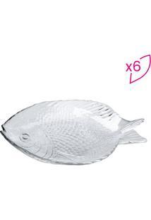 Jogo De Pratos Para Sobremesa Marine- Incolor- 6Pã§S