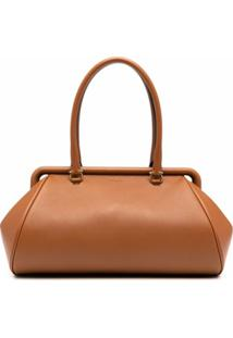 Salvatore Ferragamo Frame Shoulder Bag - Marrom