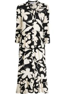 Calvin Klein Bold Floral Shirt Dress - Neutro