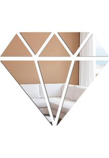 Espelho Decorativo Love Decor Diamond Prata - Prata - Dafiti