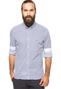 Camisa Aramis Gola Branca/Azul