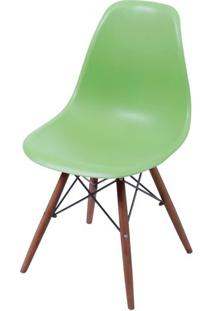 Cadeira Eames Polipropileno Verde Base Escura - 44834 Sun House