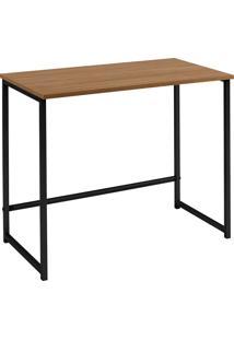Escrivaninha Home 750X800X450 Aco Preto Tpo Mad Mel Daf