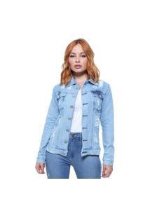Jaqueta Feminina Jeans Crocker Azul