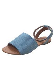 Sandália Maisapato Avarca Jeans Claro
