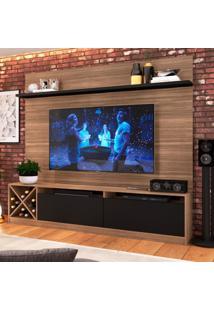 Estante Home Para Tv Até 60 Polegadas Bianca Montana E Preto