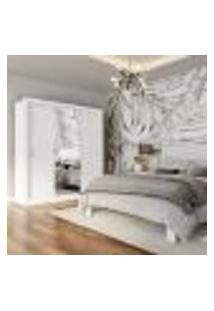 Guarda-Roupa Casal Com Espelho Cachoreira 3 Pt 4 Gv Branco