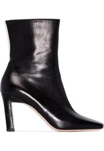 Wandler Ankle Boot Isa Bicolor 85 - Preto
