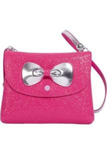 Bolsa Infantil Princesa Pink Bolsa Carteira Glitter Pink Rosa
