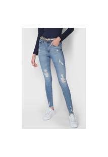 Calça Jeans Malwee Skinny Push Up Azul